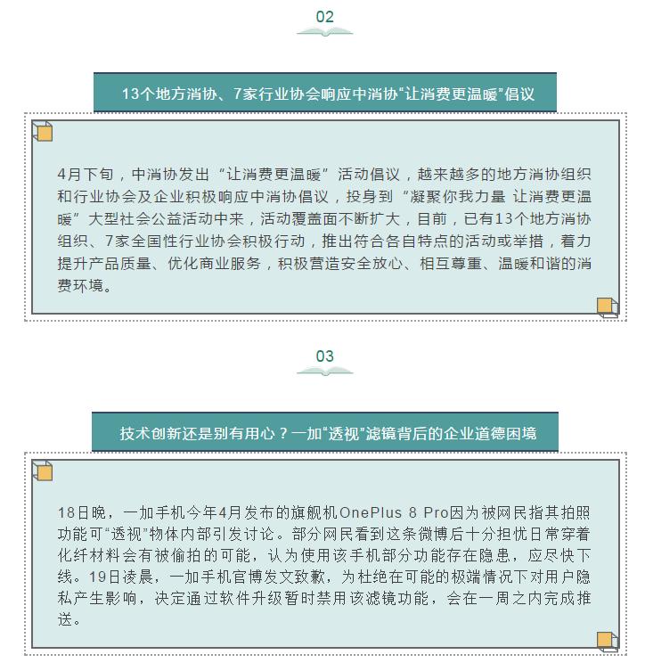 """"""" 一人抛物,全楼买单""""你怎么看?多地响应中消协""""让消费更温暖""""倡议 ;手机拍照可""""透视"""" ;中国单身经济报告@你"""